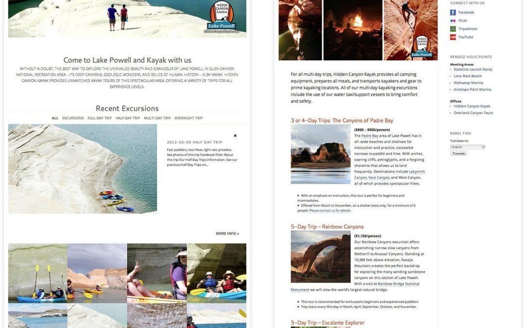 Hidden Canyon Kayak (Website)